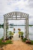 Trayectoria hermosa del lago de Inya, Rangún, Myanmar Foto de archivo
