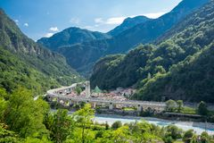 Trayectoria Italia del ciclo de Alpe Adria Fotos de archivo libres de regalías