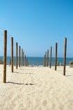 Trayectoria a la playa Fotos de archivo