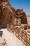 Trayectoria que camina de Masada Imagen de archivo