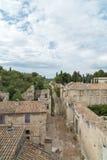 Trayectoria vieja en la ciudad medieval del castillo del fuerte Santo-Andre Foto de archivo libre de regalías