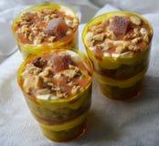 Trayfle Sobremesa em um vidro Imagens de Stock Royalty Free