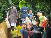 Traying Mann Selefy für Bangladesch Stockbild