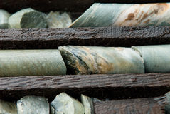 Trays of core samples Stock Images