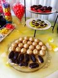 Trays of Party Treats for Celebration Royalty Free Stock Photo