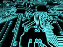 Trazado de circuito Imagenes de archivo