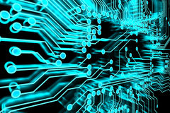 Trazado de circuito azul Foto de archivo