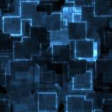 Trazado de circuito azul Fotografía de archivo libre de regalías