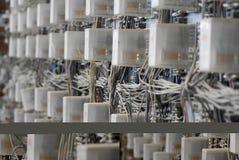 Trazado de circuito eléctrico Imágenes de archivo libres de regalías