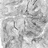 Trazado del contorno del vintage Ejemplos naturales de la impresión de mapas libre illustration