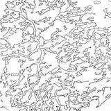 Trazado del contorno del vintage Ejemplos naturales de la impresión de mapas stock de ilustración
