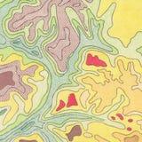 Trazado del contorno del vintage Ejemplos naturales de la impresión de mapas ilustración del vector