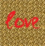 trazado Inscripción del amor pintada en una malla del fondo ilustración del vector