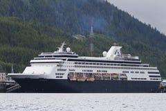 Trazador de líneas de la travesía en aguas de Alaska Imagen de archivo libre de regalías