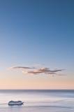 Trazador de líneas de la travesía en el mar Fotografía de archivo