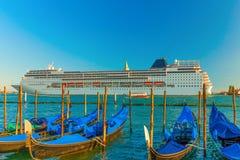 Trazador de líneas de la travesía en Venecia, Italia Fotos de archivo libres de regalías
