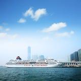Trazador de líneas de pasajero en Hong-Kong Fotos de archivo