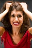 Trazione dei capelli Immagine Stock Libera da Diritti