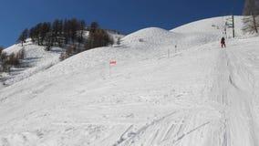 Trazione dell'ascensore di sci stock footage