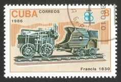 Trazione a vapore della Francia Fotografia Stock