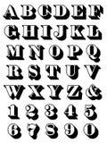 Trazo de pie mayúsculo determinado del alfabeto completo Imágenes de archivo libres de regalías