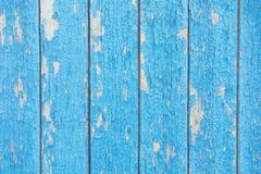 träblått staket Royaltyfri Foto