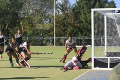 TRC goal over Bs As Christian School stock images