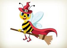 Trcik or Treat-Halloween Witch Bee Stock Photos