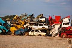 Trödel-Autos auf Junkyard Lizenzfreie Stockfotografie