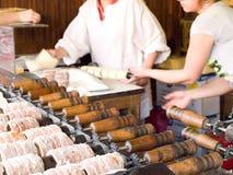 Trdelník, traditionele cake van Tsjechische Republiek Royalty-vrije Stock Foto
