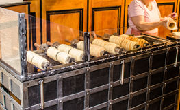 Trdelnik Czech delicious sweet Stock Photo