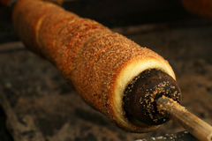 Trdelnik, dessert tchèque traditionnel Images stock