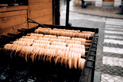 Trdelnik - traditional cake Stock Photography