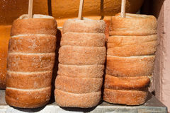 Trdelnik, traditional czech and slovak pastry. Stock Photo