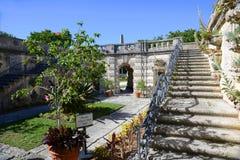 Trädgård av Vizcaya i Miami, USA Arkivfoto
