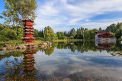 Trädgård för kinesisk stil Fotografering för Bildbyråer