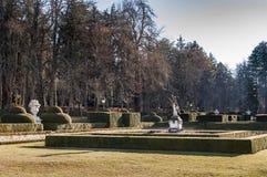 Trädgårdar av Royal Palace av La Granja Fotografering för Bildbyråer