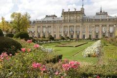 Trädgårdar och Royal Palace av La Granja de San Ildefonso Arkivfoton