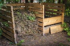 Trädgårdkompostfack Royaltyfria Foton