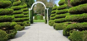 trädgårds- bana Arkivbilder