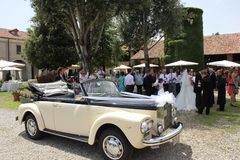 Trädgårds- bröllopmottagande Royaltyfri Bild