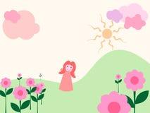 trädgårds- flickamagi Arkivfoto