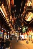 trädgårds- natt yuyuan shanghai för porslin Fotografering för Bildbyråer
