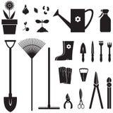 Trädgårds- utrustninguppsättning Arkivbild