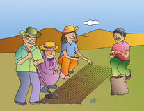 trädgårdsnäring Arkivbilder
