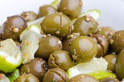 Broken Olives tsakistes Royalty Free Stock Image