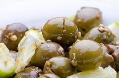 Broken Olives tsakistes Royalty Free Stock Photos