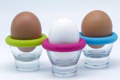Tre ägg arkivbilder