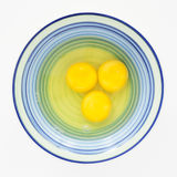 Tre ägg som är klara till takten Fotografering för Bildbyråer