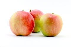 Tre äpplen Arkivfoton